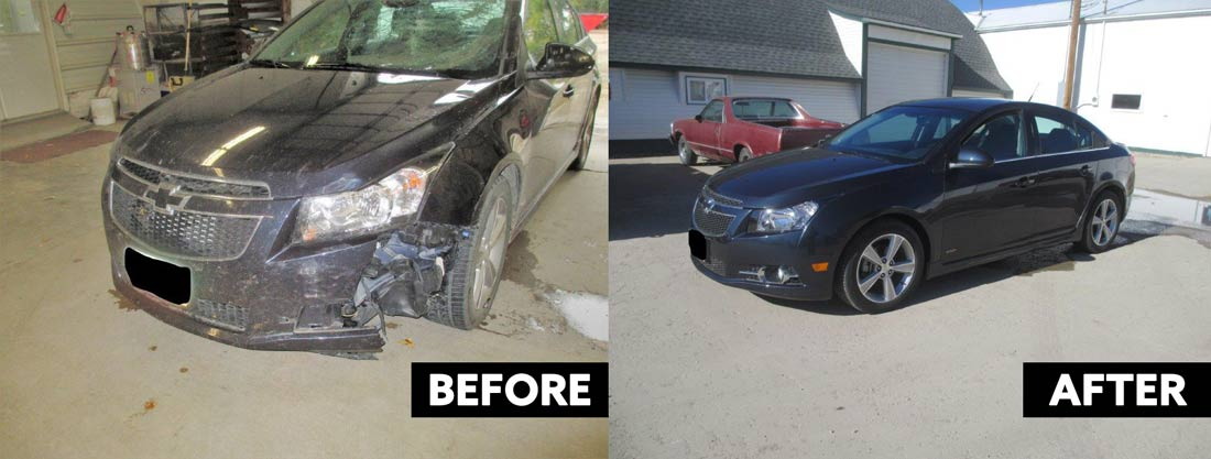 before and after body work